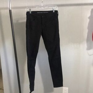 Articles of Society distressed black skinny jeans